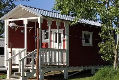 Familienhütte MADITA auf dem Campingplatz Drei Gleichen