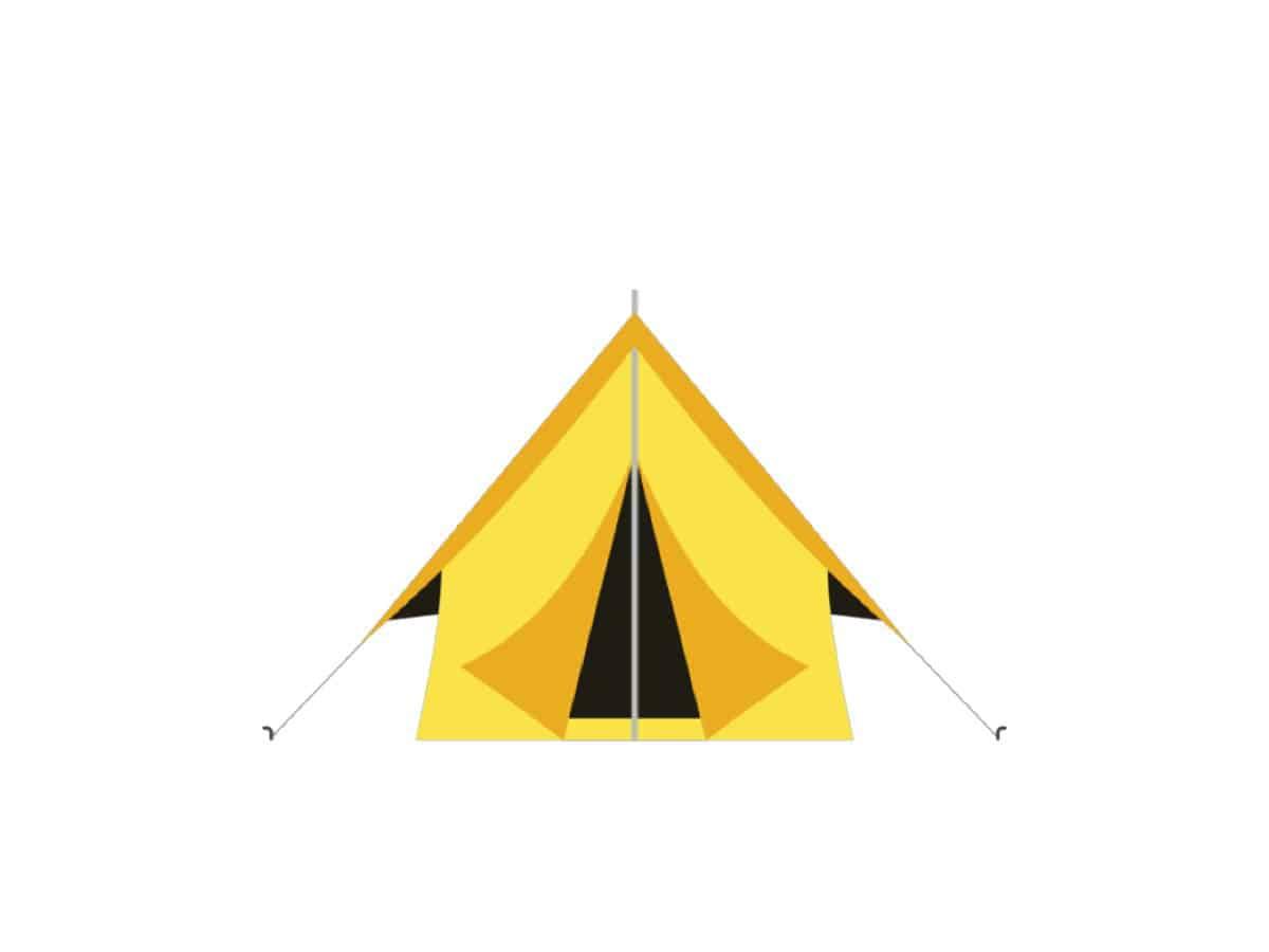 Zelt bis zwei Personen (ohne Stromanschluss)
