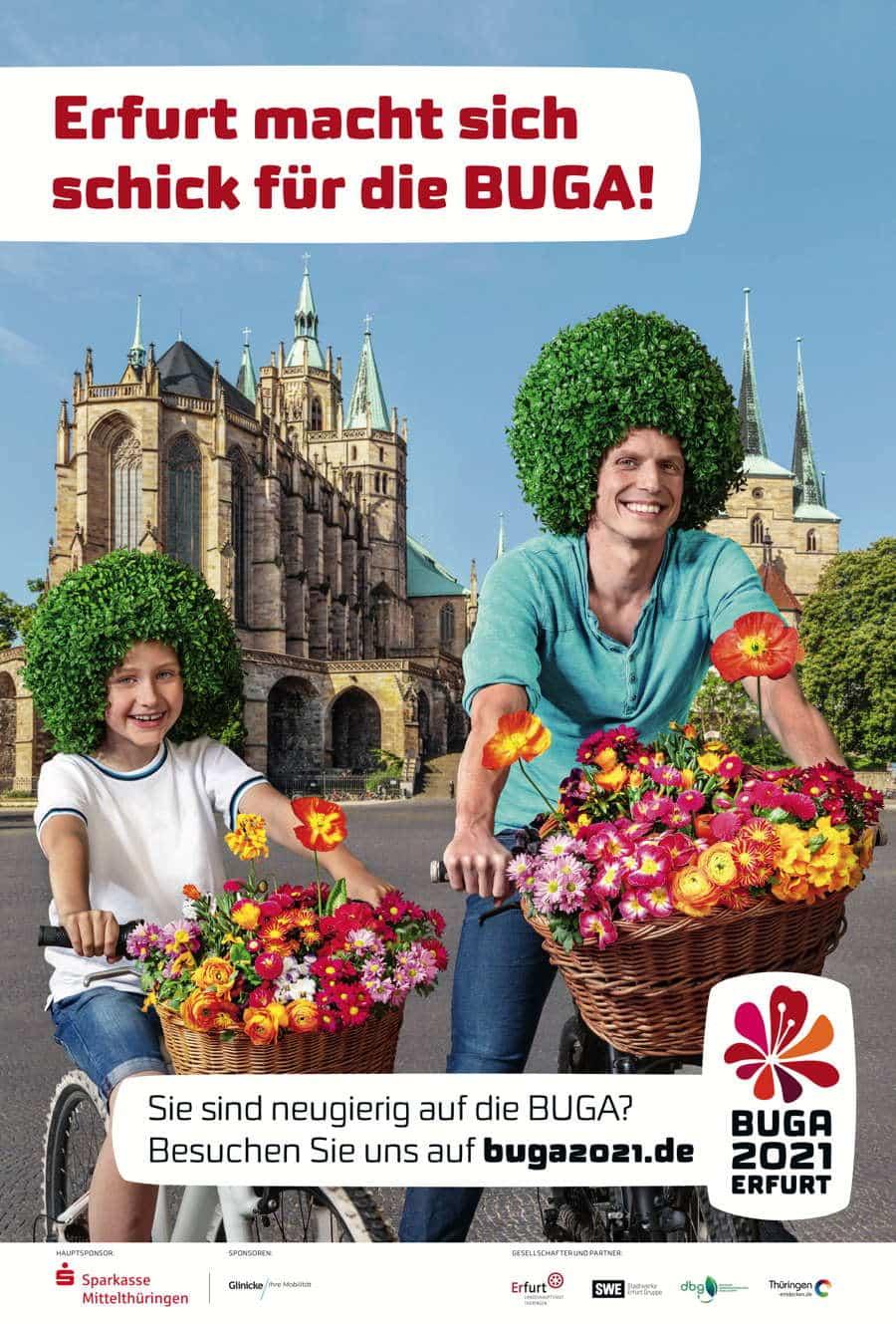 Plakat Bundesgartenschau Erfurt 2021