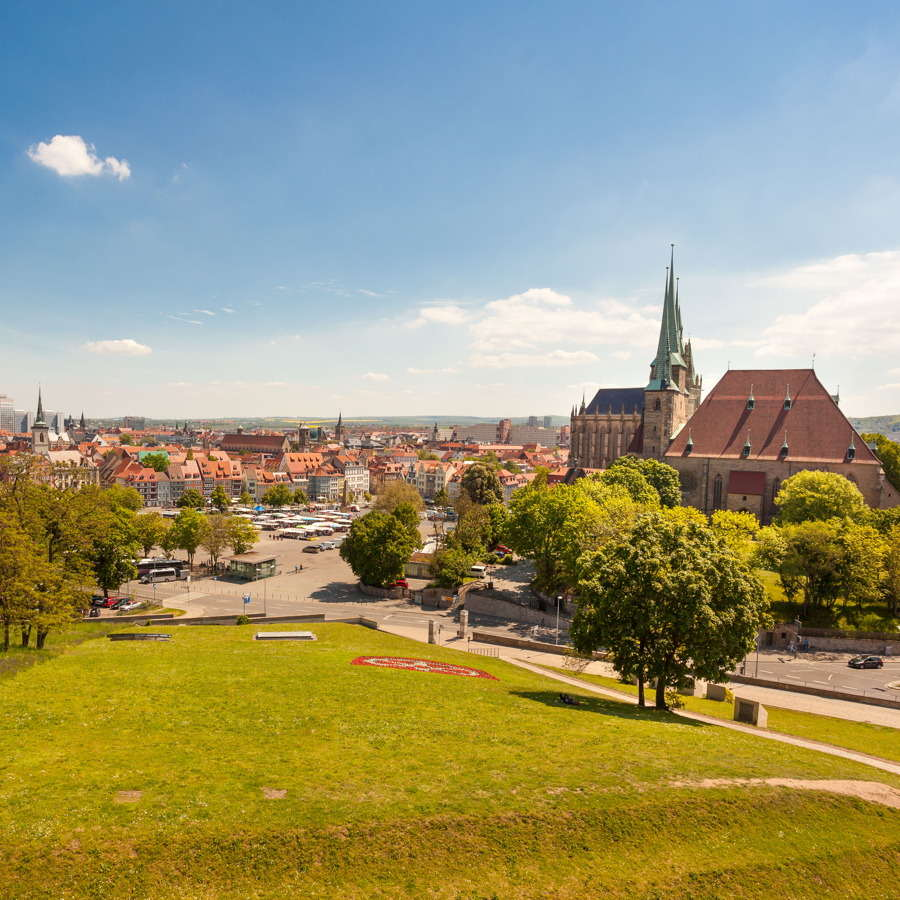 Erfurt, Blick auf die Altstadt
