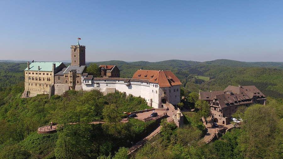 Luftaufnahme der Burg
