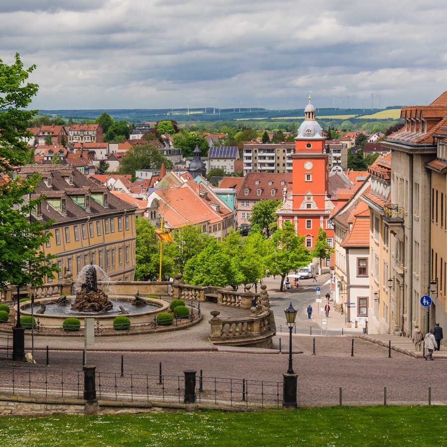 Blick vom Schloss auf die Stadt Gotha